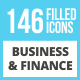 146 Business & Finance Filled Low Poly Icons - GraphicRiver Item for Sale