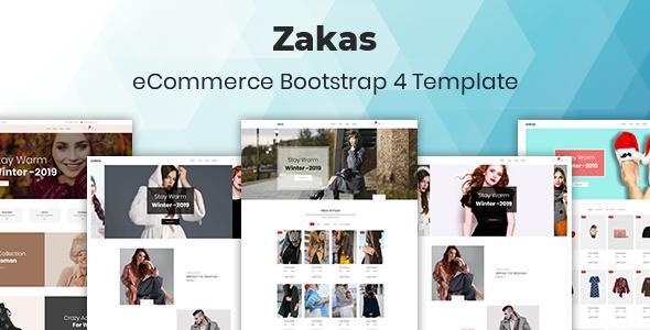 Zakas - Fashion eCommerce Bootstrap 4 Template - Fashion Retail