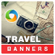 Travel & Tourism HTML5 Banners - 7 Sizes - CodeCanyon Item for Sale