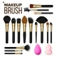 Makeup Brush Set Vector. Cosmetic Beauty Tools - GraphicRiver Item for Sale