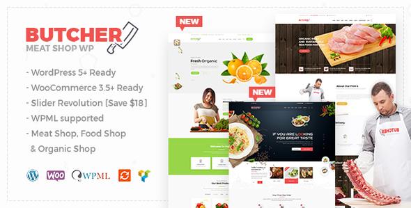 Butcher - Meat Shop WooCommerce WordPress Theme
