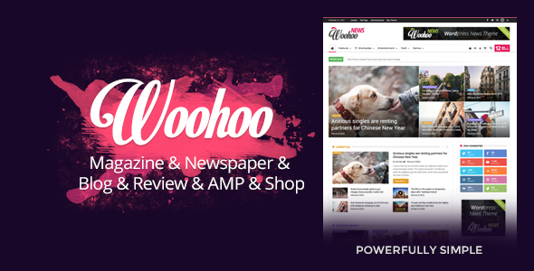 Woohoo News - Newspaper Magazine News AMP Multipurpose + RTL