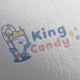 King Candy Logo Design - GraphicRiver Item for Sale