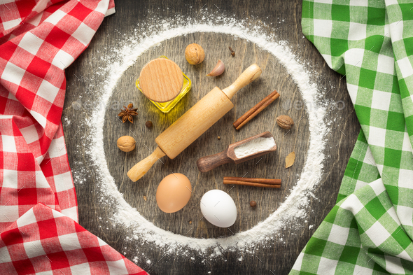 wheat flour and bakery ingredients - Stock Photo - Images