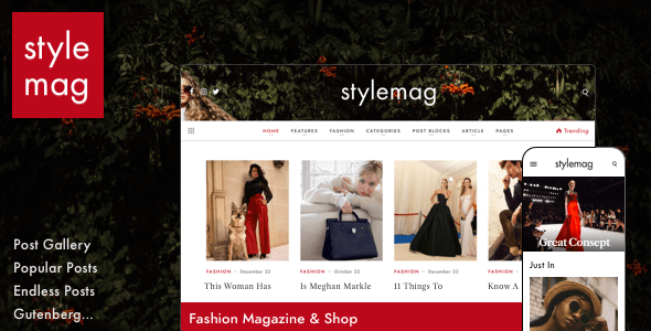 Stylemag - Fashion Magazine & Shop WordPress Theme - News / Editorial Blog / Magazine