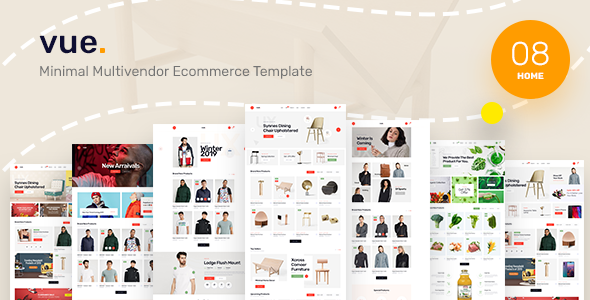 Vue - Clean, Minimal eCommerce PSD Template