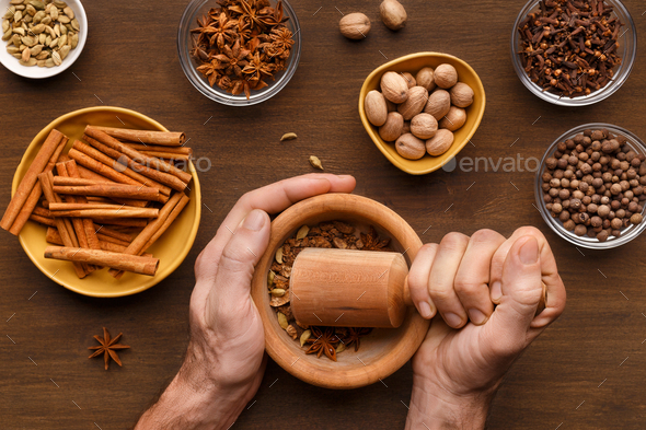 Mulled wine preparation concept - Stock Photo - Images