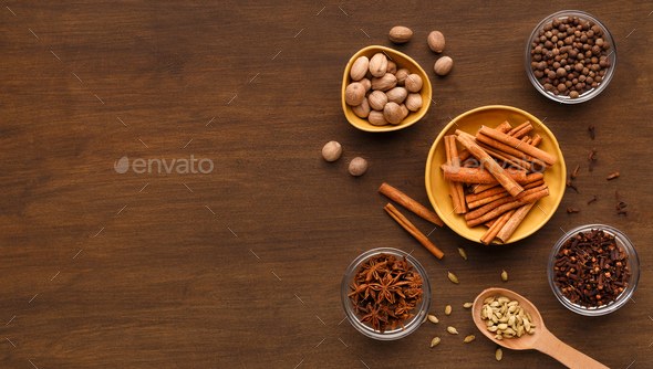 Spices winter collection concept - Stock Photo - Images