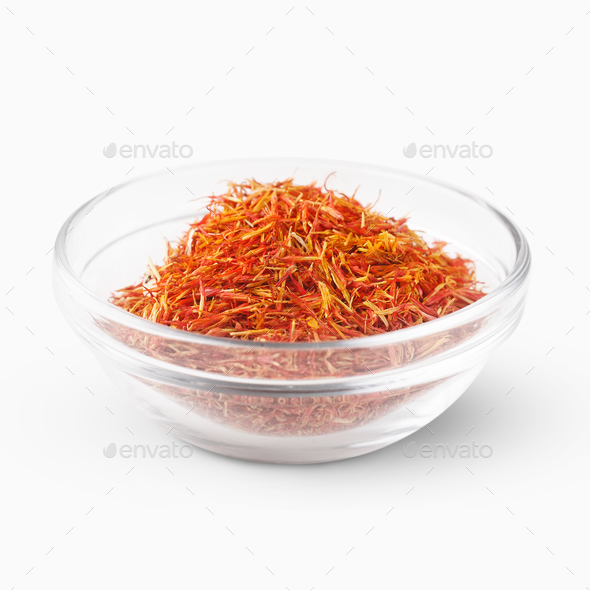 Saffron threads bowl - Stock Photo - Images
