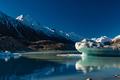 Tasman Glacier Lake with icebergs and mountains, Aoraki Mount Co - PhotoDune Item for Sale