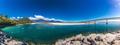 New Zealand's longest one-lane bridge over Haast River, South We - PhotoDune Item for Sale