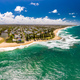 Aerial panoramic images of Dicky Beach, Caloundra, Australia - PhotoDune Item for Sale