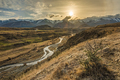 Cave Stream Scenic Reserve during sunset, South Island, New Zeal - PhotoDune Item for Sale