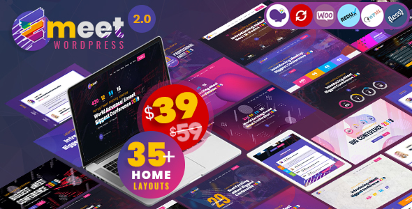 Event WordPress |  Emeet for Event, Conference and Meetup - Events Entertainment
