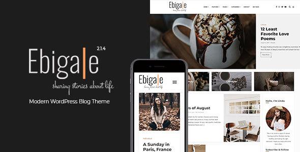 Ebigale -  Modern Gutenberg WordPress Blog Theme