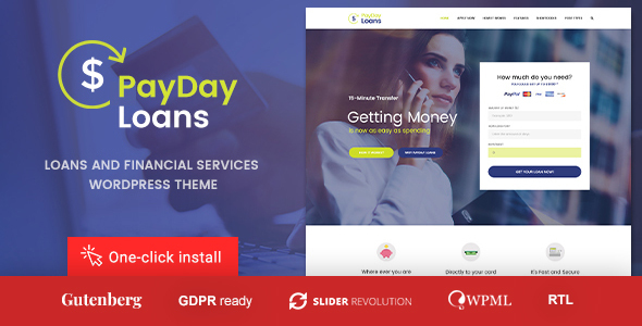 Payday Loans - Banking,  Loan Business and Finance WordPress Theme by cmsmasters