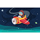 Vector Illustration of Kid Operating Plane - GraphicRiver Item for Sale