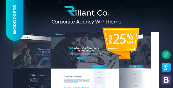 Riliant - Corporate agency WordPress Theme