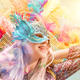 Beautiful young woman in carnival mask - PhotoDune Item for Sale