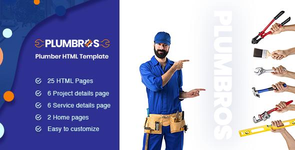 Plumbros - Plumber Service HTML Template - Business Corporate