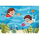 Vector Illustration of Kids Diving - GraphicRiver Item for Sale