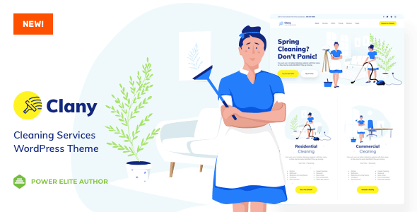 Clany - Cleaning Services WordPress - Business Corporate