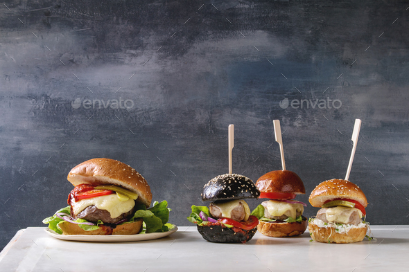 Homemade burgers variety - Stock Photo - Images