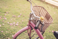 Close up of vintage bicycle with sunlight at the park - PhotoDune Item for Sale