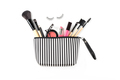 Make up bag with various cosmetics and brushes isolated - PhotoDune Item for Sale