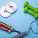 fitness equipment on bright background - PhotoDune Item for Sale