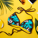Beach accessories on yellow background - PhotoDune Item for Sale