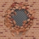Red Brick Break Breaking Hole in Wall - GraphicRiver Item for Sale