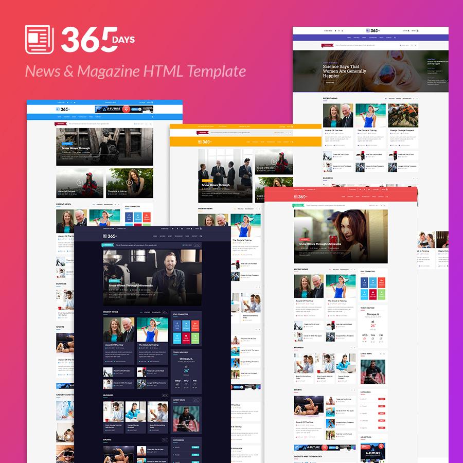 365 Days | News HTML Template - 2