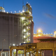 Liquefied natural gas (LNG) storage tank at dusk. - PhotoDune Item for Sale
