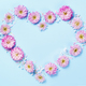 Heart symbol made of pink flowers - PhotoDune Item for Sale