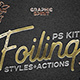 Foil Stamp Photoshop Styles+Actions - GraphicRiver Item for Sale