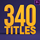 340 Titles and Lower Thirds For Premiere Pro - VideoHive Item for Sale