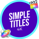 Simple Titles | FCPX or Apple Motion - VideoHive Item for Sale