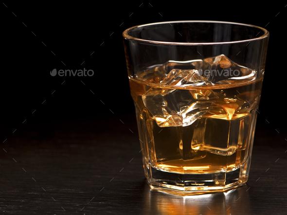 Whiskey on the Rock - Stock Photo - Images