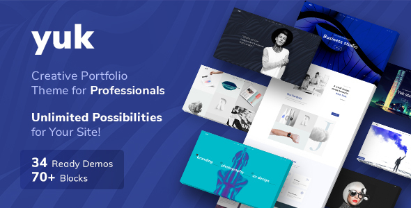 Portfolio/Agency YUK - Portfolio WordPress Portfolio - Portfolio Creative