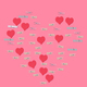 red hearts and clothespins made heart isolated on pink background - Valentine's day concept - PhotoDune Item for Sale
