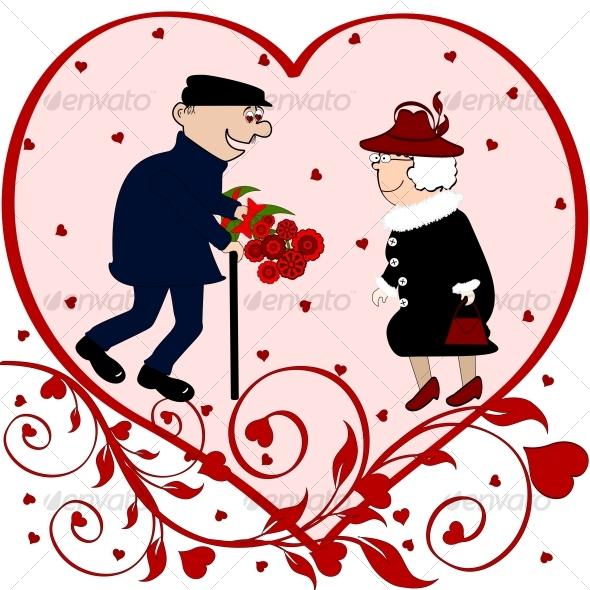 Elderly couple in love - Valentines Seasons/Holidays