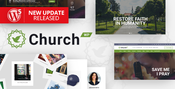 ChurchWP - A Contemporary WordPress Theme for Churches - Churches Nonprofit