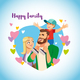 Happy Family with Child Cartoon Vector Concept - GraphicRiver Item for Sale