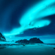 Beautiful aurora borealis. Northern lights in Lofoten islands - PhotoDune Item for Sale