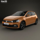 Volkswagen Polo R-Line 5-door 2017 - 3DOcean Item for Sale