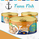 Tuna Fish Can Packaging Label - GraphicRiver Item for Sale