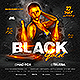 Black Gold Club Party Flyer - GraphicRiver Item for Sale