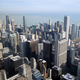 Chicago downtown aerial view looking over Lake Michigan - PhotoDune Item for Sale