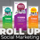 Social Media Marketing Roll Up Banner - GraphicRiver Item for Sale